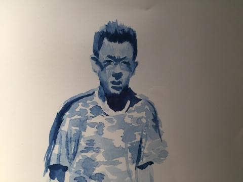 刘小东 《我这一家子》 42×60cm 纸上油墨版画 2012