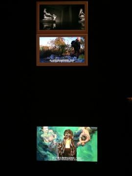 一些重要的展览作为文献在电子屏幕上陈列