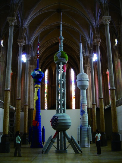 《TVT-火箭》装置作品2005 © 2018尹秀珍,佩斯画廊供图
