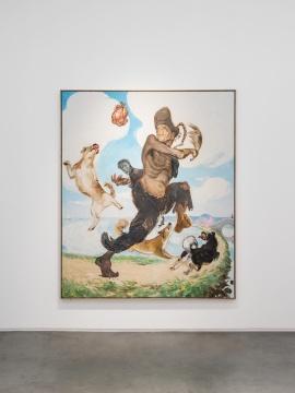 王兴伟《济公》240×200cm 布面油画 2015