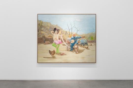 段建宇《艺术女神刚刚醒来No.3》181×217cm 布面油画 2011