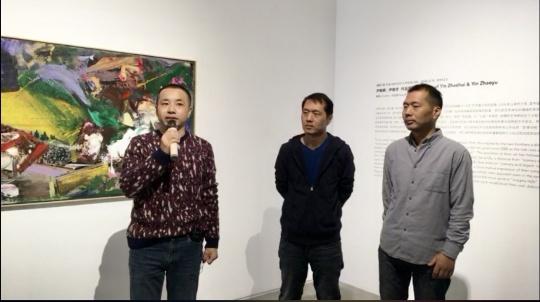 策展人方志凌,艺术家尹朝辉、尹朝宇