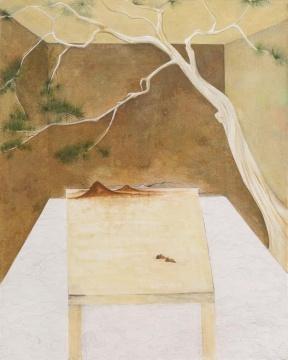 尹朝辉《内境》168x135cm布面蛋彩、油画、墨 2018
