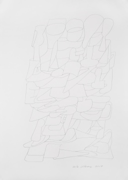 《川拔棹》纸本素描 42×30cm 2018