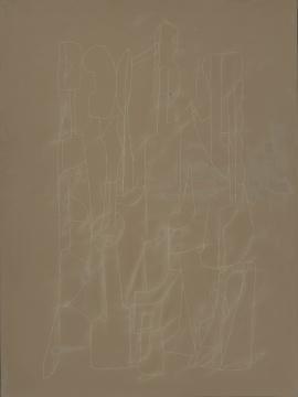 《水龙吟》大漆、麻、木板,80cm×60cm 2015