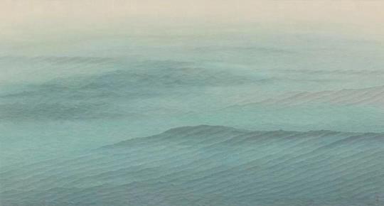 《水面·镜湖》52x97cm 纸本水墨 2018