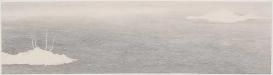 《倪瓒的安楚斋图》49x180cm 纸本水墨 2017