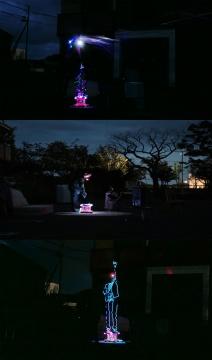 一等奖获得者王彦鑫的行为录像作品《当我们再次相遇 》