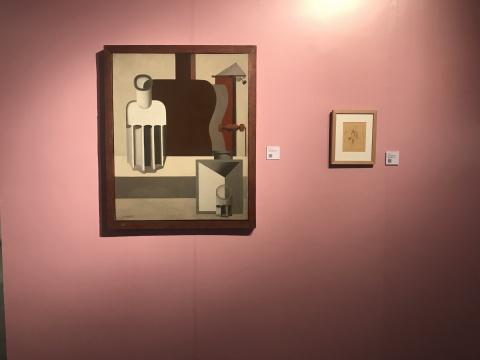 《垂直的吉他》第二版 布面油画 1920