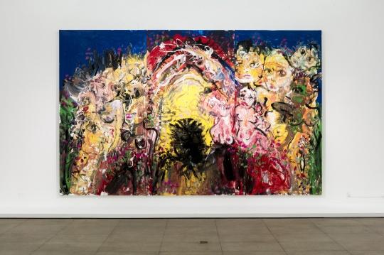 《淖中花 — 欲望之门 》布面油画 370 x 600cm 2018