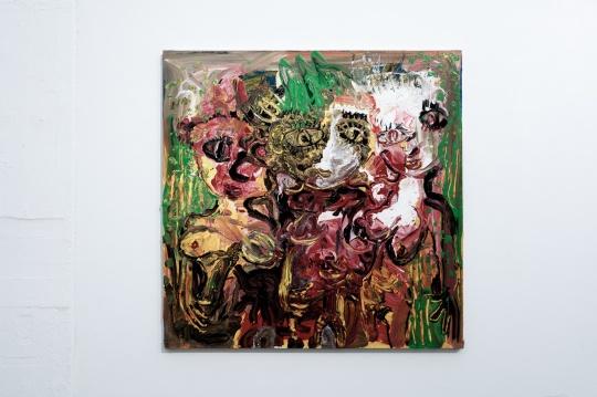 《淖中花 — 乐性》 布面油画 150 x 150cm 2018