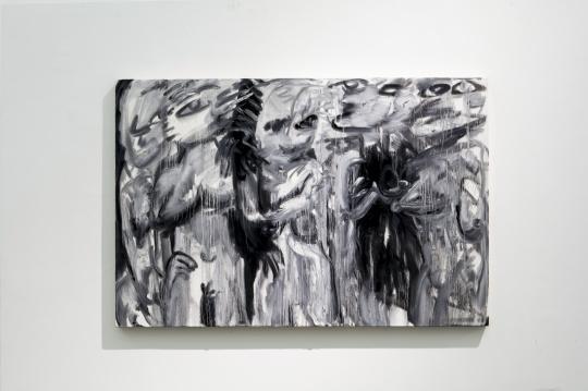 《淖中花 — 楚女图》 布面油画 100 x 150cm 2018