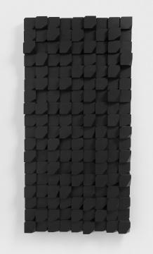 《锐化-块》,2017(NO.5),木料,黑色喷漆,180x 90x 17cm