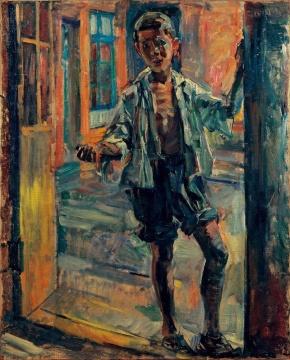 董希文《小乞丐》布面油彩 100x80cm 1947