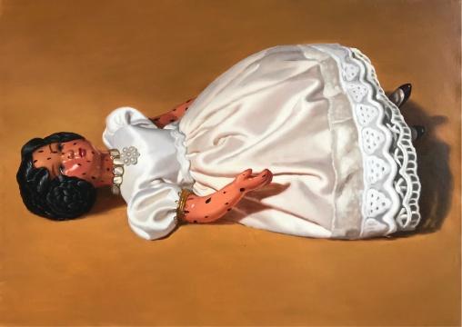 章烟朦 《躺着的娃娃》 布面油画 85×100cm 2018