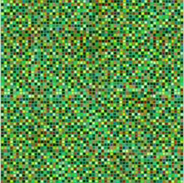 蔡灿煌 《乱象系列》 132.6 × 132.6cm 布面丙烯 2018