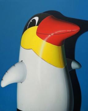 孙一钿 《热带企鹅》 230 × 183cm 布面丙烯 2018