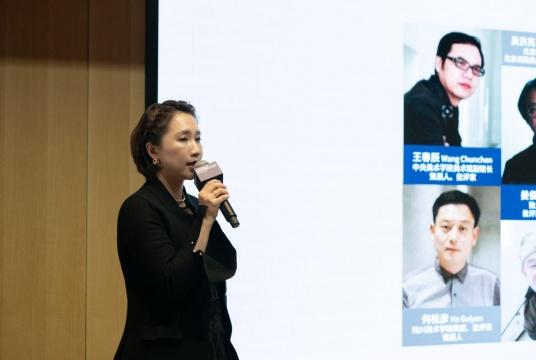 现代汽车文化中心艺术总监徐静介绍 Hyundai Blue Prize 2019
