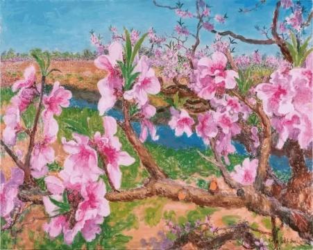 参展艺术家周春芽过往作品