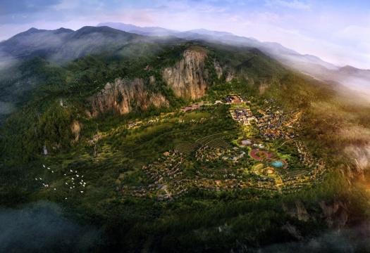 (懒坝效果图)武隆·懒坝国际大地艺术季主要场地在中国武隆·懒坝,以懒坝为核心场地,逐渐覆盖周边村落至更为广阔的地理空间,17平方公里,来自世界各地的40位当代艺术家,集结大众共同参与,用艺术激活大地,为乡村带来新生活力。