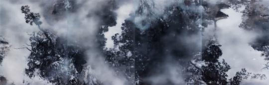 叶剑青 《水影》 170×130cm×4 布面油彩 2016