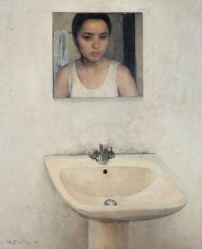 何多苓 《无题》 100×81cm 布面油画 1996  估价:300万-500万元