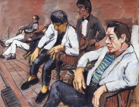 曾梵志 《黄昏之一》 80×100cm 布面油画 1989  估价:1200万-2200万元