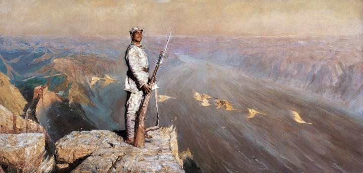 陈逸飞 《黄河颂》143.5×297cm布面油画1972©️泰康收藏