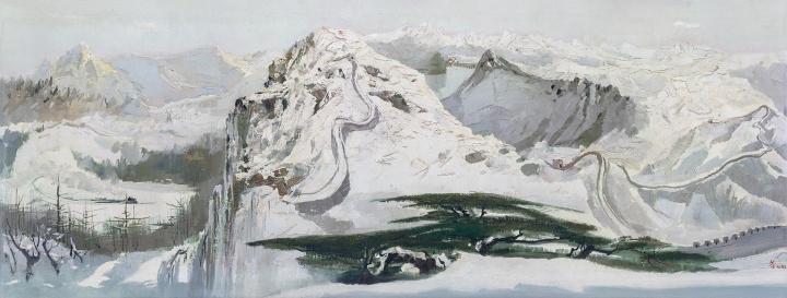 吴冠中 《北国风光》68×179.5cm布面油画1979©️泰康收藏
