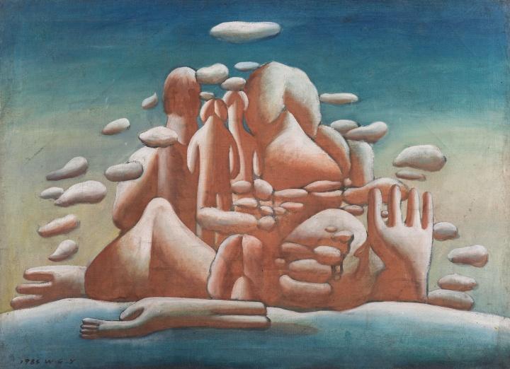 王广义《凝固的北方极地25号》65×90cm布面油画1985©️泰康收藏