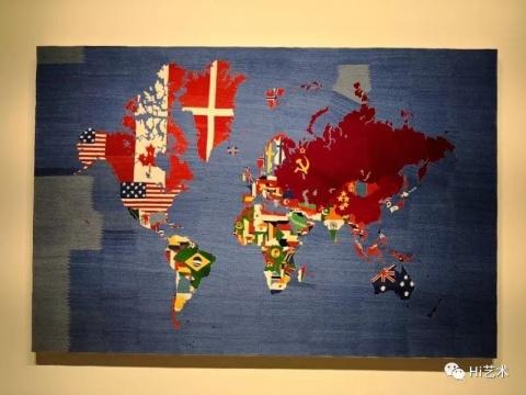 阿里吉耶罗·波提的几幅《地图》,指涉1979年代早期、1980年代初到1990年、1989年到1994年