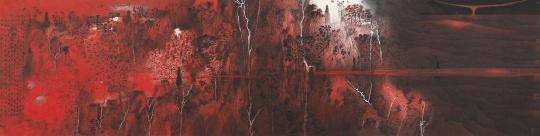 卢禹舜《天地大美》,纸本设色,68x272cm,2018