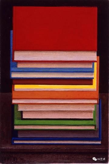 刘野《书上书》30×20cm 布面丙烯 2007