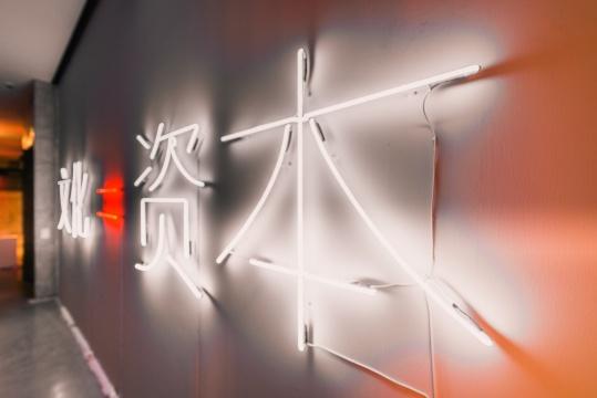 展览现场,阿法瓦多·加尔作品《文化=资本》