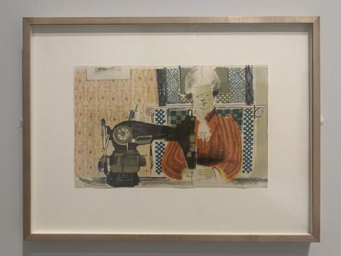 《女人与缝纫机》 22.5×35.5cm 石版画 1954  泰特美术馆收藏