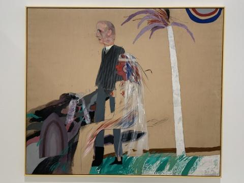 《第一次婚姻(多种风格的结合)》 182.9×214cm 布面油画 1962  泰特美术馆收藏