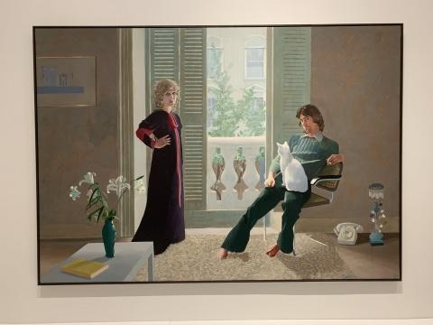 《克拉克夫妇和波西》 213.4×304.8cm 布面丙烯 1970  泰特美术馆收藏