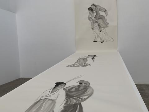 《故事新编》 160×5000cm 纸本水墨 2019