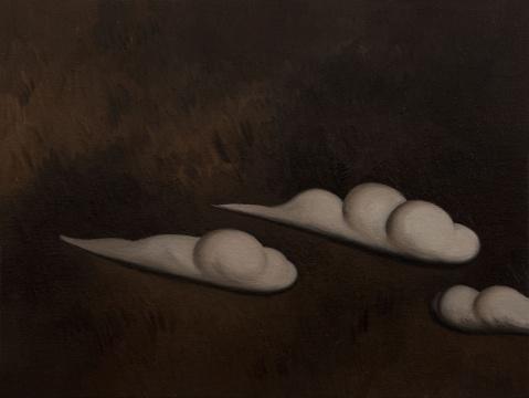 《三朵白云》60×80cm 布上油画 2017