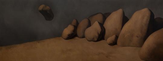 《天涯》150×400cm 布上油画 2018