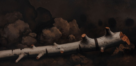 《倒木》165×340cm 布上油画 2019