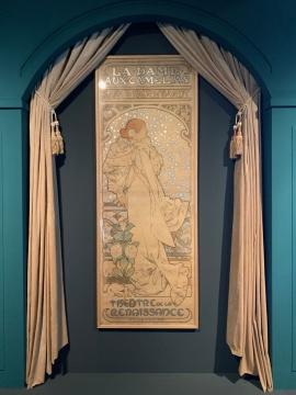 《茶花女》 彩色石版画 1896  法国女演员莎拉·伯恩哈特,文艺复兴剧院