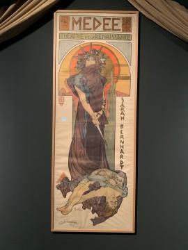 《美狄亚》 彩色石版画 1898 法国女演员莎拉·伯恩哈特,文艺复兴剧院