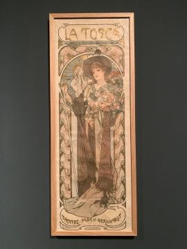 《托斯卡》 彩色石版画 1899 法国女演员莎拉·伯恩哈特,文艺复兴剧院