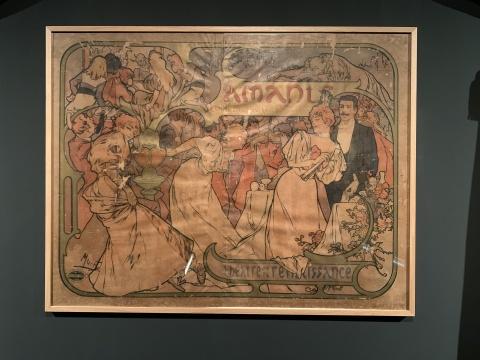 《情人》 彩色石版画 1895 文艺复兴剧院