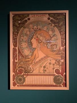 《羽毛》杂志年历设计 彩色石版画 1898 捷克共和国布拉格国家工艺美术博物馆藏