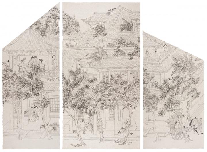 《第二夜》192.5x145cm 宣纸水墨 2018
