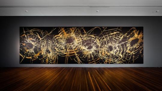 《星空》 300×200cm 布面刺绣,5件 2019