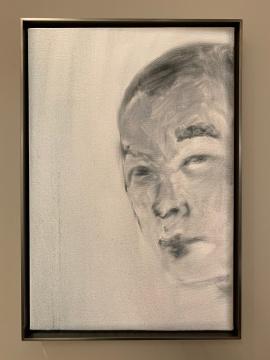 《自画像》37×25 cm 布面油画 2018
