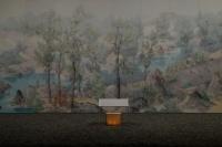 曾健勇巨幅水墨亮相东京画廊,构建神之住所